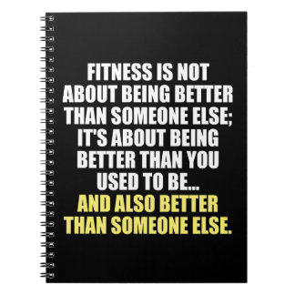 Fitness Funny Motivational Spiral Notebook