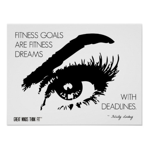 Fitness Goals Eye See: Quote 02 in White Print