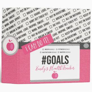 Fitness Goals Health Tracker Journal Binder