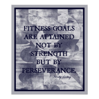 Fitness Goals in Blue and White #007 Poster