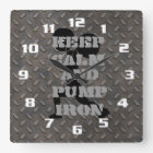 FITNESS GYM AND WORKOUT MOTIVATIONAL SQUARE WALL CLOCK