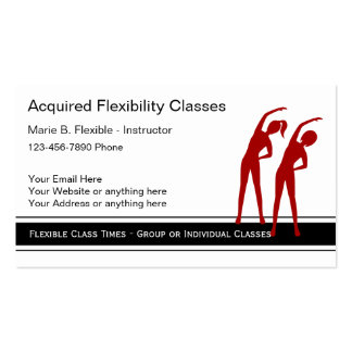 Fitness Instructor Business Cards