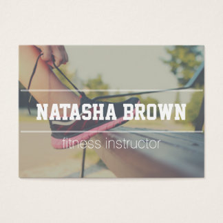 fitness instructor modern business card