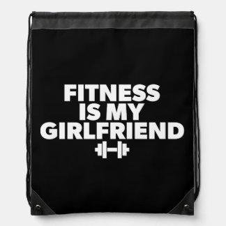 Fitness Is My Girlfriend - Workout Motivational Drawstring Bag
