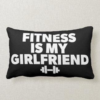 Fitness Is My Girlfriend - Workout Motivational Lumbar Pillow