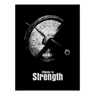 Fitness Is - Strength Poster