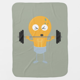 Fitness light bulb with weight baby blanket