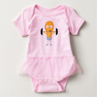 Fitness light bulb with weight baby bodysuit