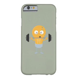 Fitness light bulb with weight barely there iPhone 6 case