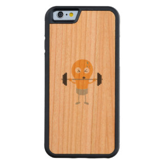 Fitness light bulb with weight carved cherry iPhone 6 bumper case