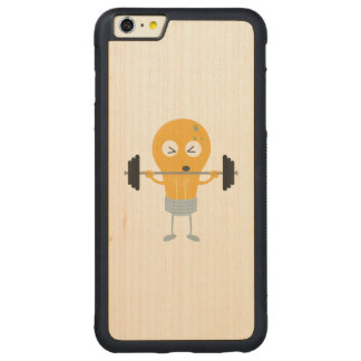 Fitness light bulb with weight carved® maple iPhone 6 plus bumper case