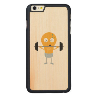 Fitness light bulb with weight carved® maple iPhone 6 plus case