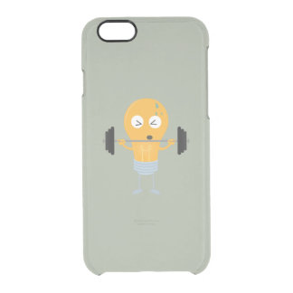 Fitness light bulb with weight clear iPhone 6/6S case