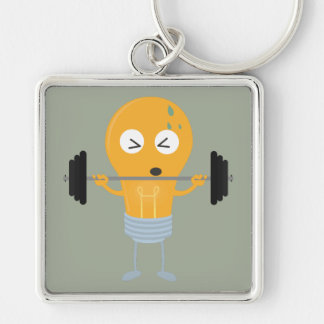 Fitness light bulb with weight keychain