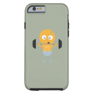 Fitness light bulb with weight tough iPhone 6 case