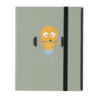 Fitness light bulb with weight Z1zu3 iPad Folio Case
