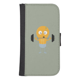 Fitness light bulb with weight Z1zu3 Samsung S4 Wallet Case