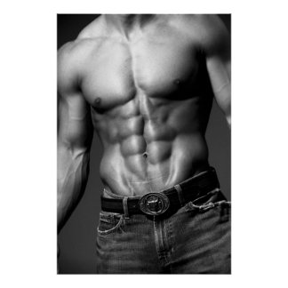 Fitness Model Abs Poster 9