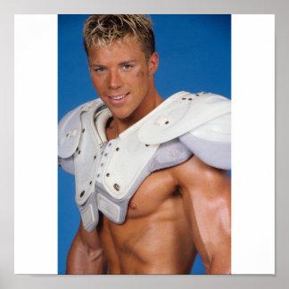 Fitness Model Football Player Poster