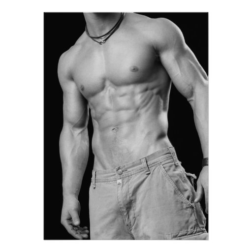 Fitness Model In Shorts Poster