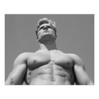 Fitness Model Poster - BW Hunk