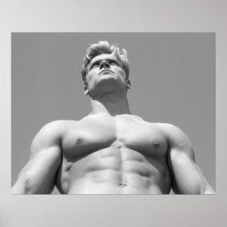 Fitness Model Poster - BW Hunk