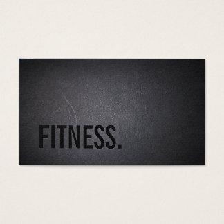Fitness Modern Bold Text Elegant Dark Professional Business Card