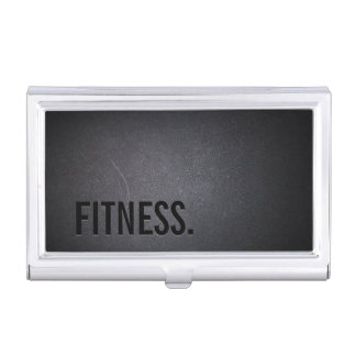 Fitness Modern Bold Text Elegant Dark Professional Business Card Holder