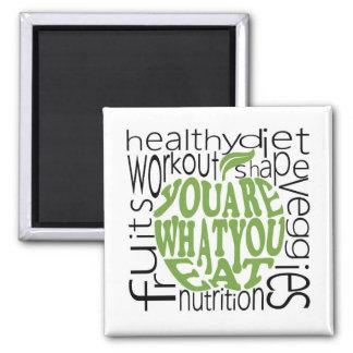 Fitness motivational poster magnet