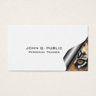 Fitness Nutrition Personal Trainer Elegant Modern Business Card
