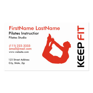 Fitness Pilates Instructor Business Card