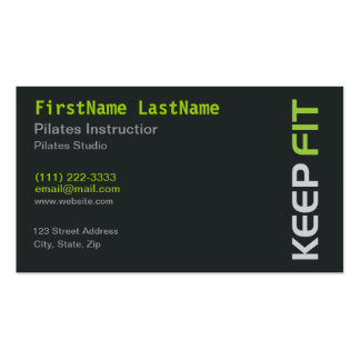Fitness Pilates Instructor on white Business Card