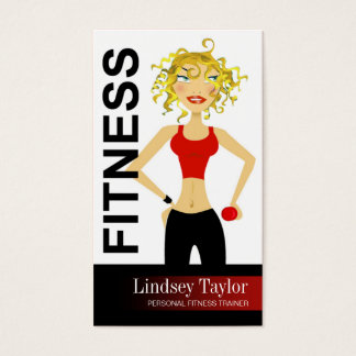Fitness Pro 3 Blonde Personal Fitness Trainer Business Card