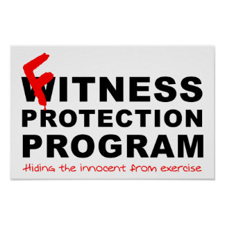 Fitness Protection Funny Poster