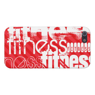 Fitness; Scarlet Red Stripes Case For The iPhone 5