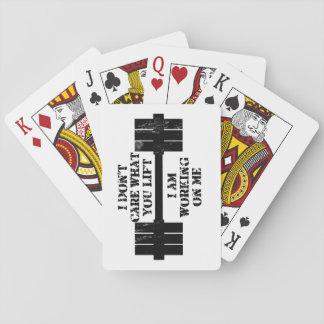 Fitness Self Motivation Playing Cards