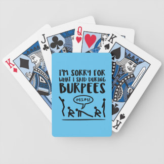 Fitness Sorry Said Burpees Bicycle Playing Cards