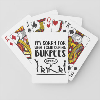 Fitness Sorry Said Burpees Playing Cards