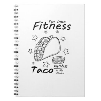 Fitness Taco  Funny Workout Gym Notebooks