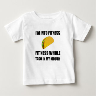 Fitness Taco In My Mouth Funny Baby T-Shirt
