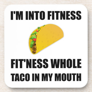Fitness Taco In My Mouth Funny Coaster