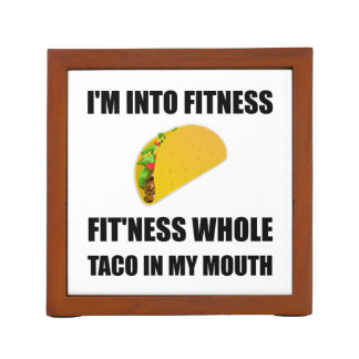 Fitness Taco In My Mouth Funny Desk Organizer