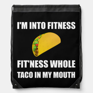 Fitness Taco In My Mouth Funny Drawstring Bag