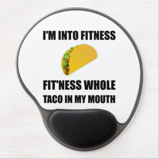 Fitness Taco In My Mouth Funny Gel Mouse Pad