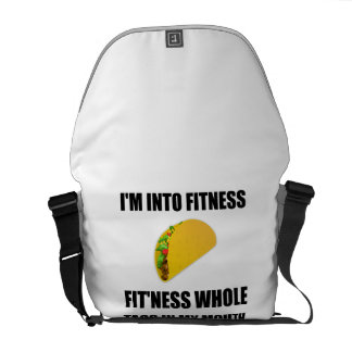 Fitness Taco In My Mouth Funny Messenger Bag
