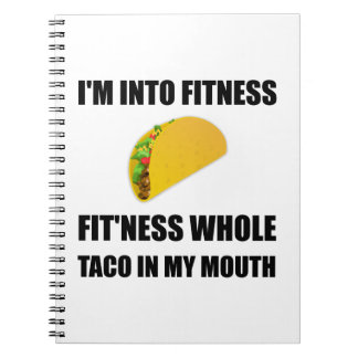Fitness Taco In My Mouth Funny Notebooks