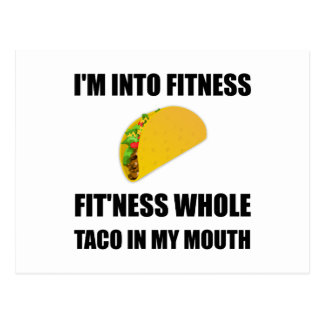 Fitness Taco In My Mouth Funny Postcard