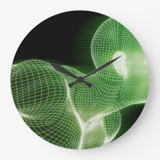 Fitness Technology Science Lifestyle as a Concept Large Clock