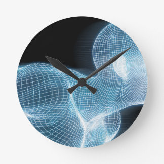 Fitness Technology Science Lifestyle as a Concept Round Clock
