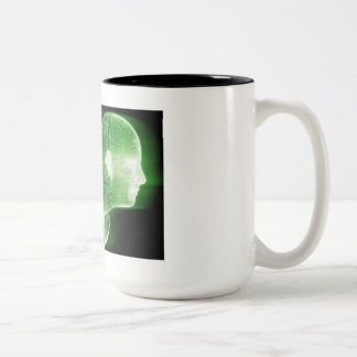 Fitness Technology Science Lifestyle as a Concept Two-Tone Coffee Mug